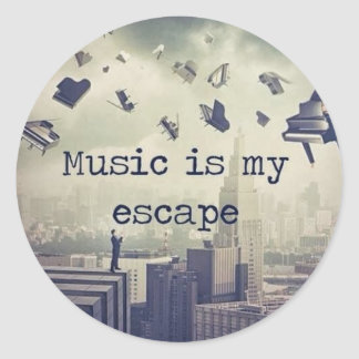 Music is my escape stickers