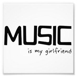 Music Is My Girlfriend Photo Print