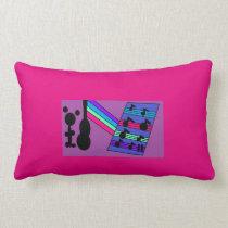 Music is my Gummy yummy Bear Talent! Lumbar Pillow