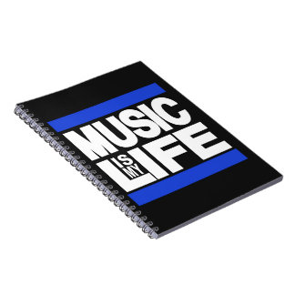 Music is My Life Blue Notebook
