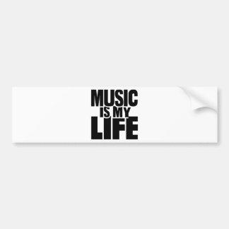 Music is my life bumper sticker