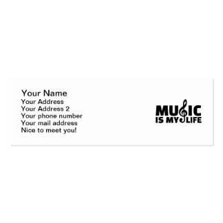 Music is my life Double-Sided mini business cards (Pack of 20)