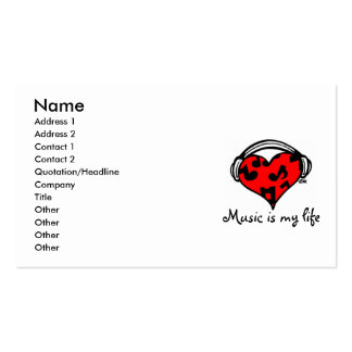 Music is my life-business card Template