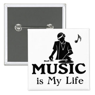 Music is My Life 2 Inch Square Button