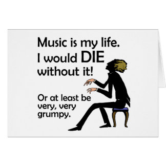 Music is My Life Card