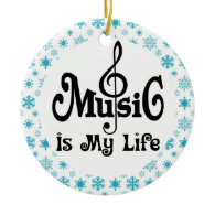 Music Is My Life Christmas Gift Ornament