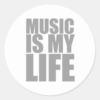 Music Is My Life Classic Round Sticker