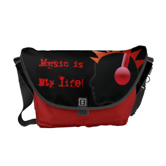 music is my life courier bag
