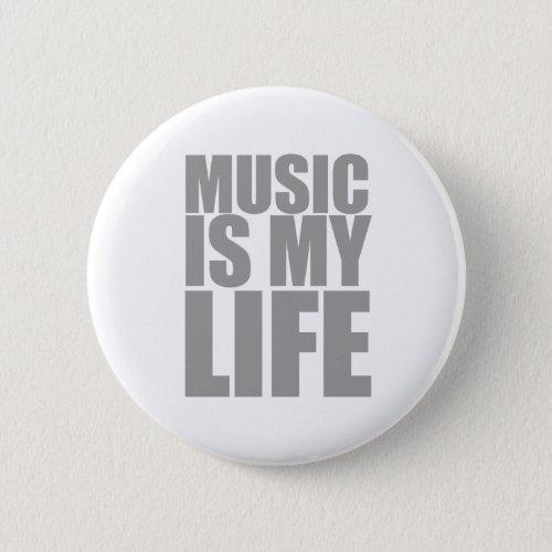 Music Is My Life - DJ Disc Jockey Audio Pinback Button