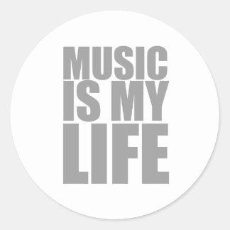 Music Is My Life - DJ Disc Jockey Audio Round Sticker