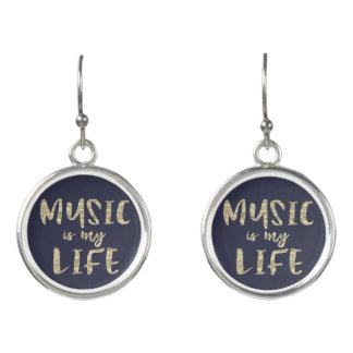 Music is my Life Earrings