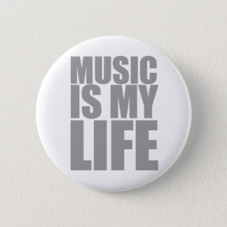 Music Is My Life - Emo Alternative Grunge Rock Pinback Button