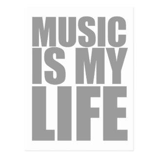 Music Is My Life - Emo Alternative Grunge Rock Postcard