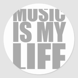 Music Is My Life - Emo Alternative Grunge Rock Stickers
