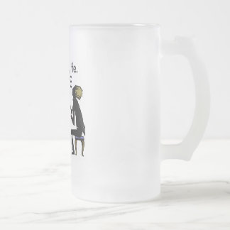 Music is My Life Frosted Glass Beer Mug