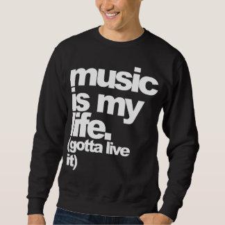 """music is my life. (gotta live it)"" Dark Tee"