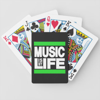 Music is My Life Green Bicycle Playing Cards