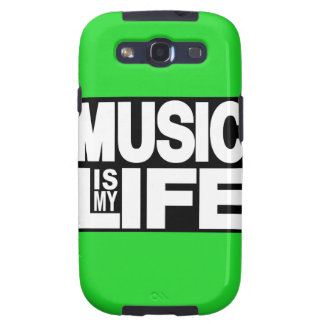Music is My Life Green Galaxy S3 Cases