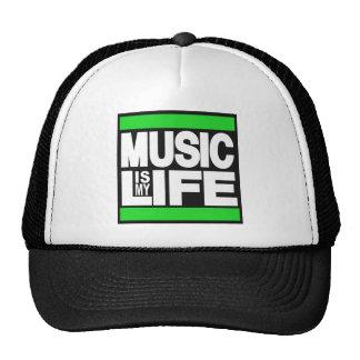 Music is My Life Green Trucker Hat