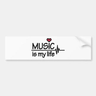 Music is my life heart bumper sticker