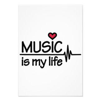 Music is my life heart invitations