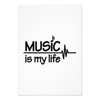 Music is my life invitation