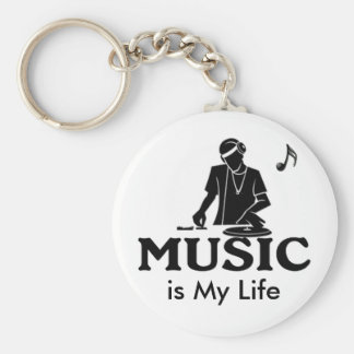 Music is My Life Keychain