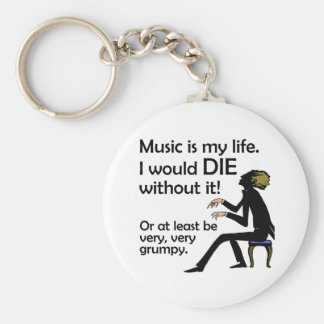 Music is My Life Keychain