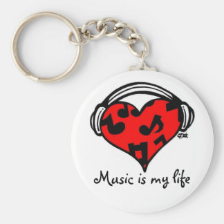 Music is my life-Keychain Keychain