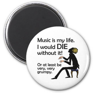 Music is My Life Magnet
