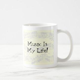 Music Is My Life Classic White Coffee Mug