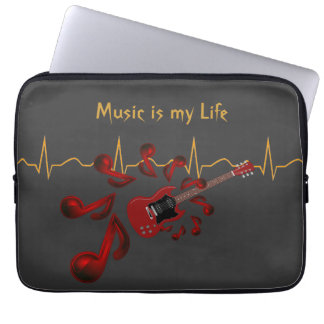 Music is my Life (Or your text) Computer Sleeve