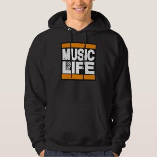 Music is My Life Orange Hoodie