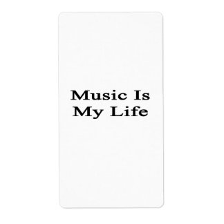 Music Is My Life Personalized Shipping Labels