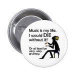 Music is My Life Pin