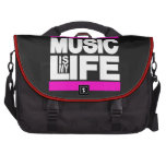 Music is My Life Pink Computer Bag