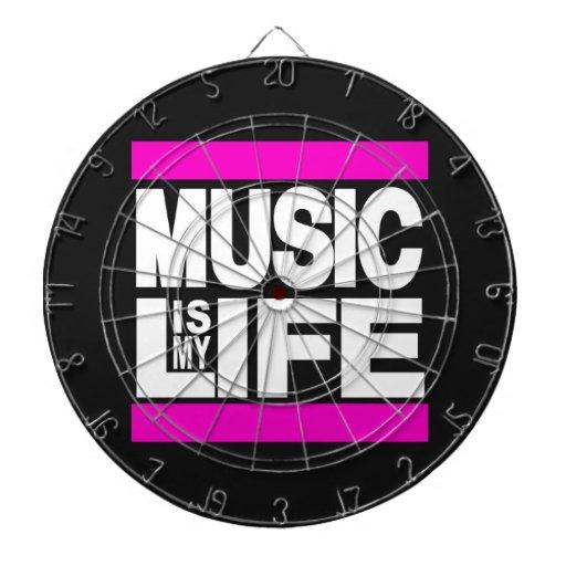 Music is My Life Pink Dartboard