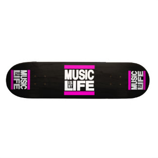 Music is My Life Pink Skateboard Deck