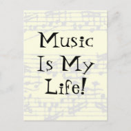 Music Is My Life postcard