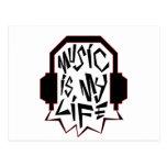 Music is my life postcard