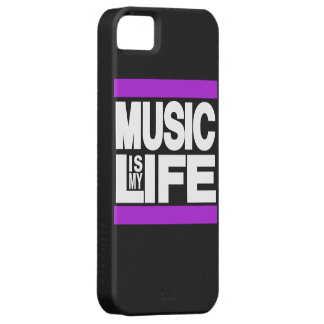 Music is My Life Purple iPhone 5 Case