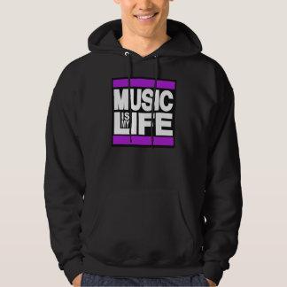 Music is My Life Purple Hoodie