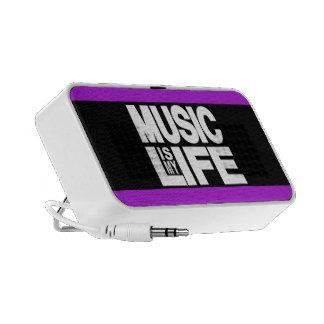 Music is My Life Purple Laptop Speakers