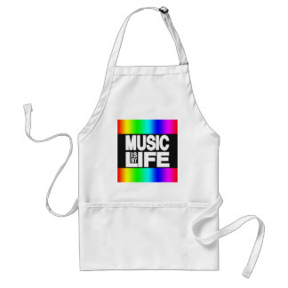 Music Is My Life Rainbow Adult Apron