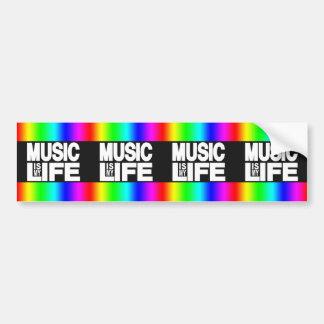 Music Is My Life Rainbow Bumper Sticker