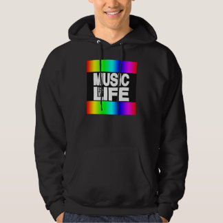 Music Is My Life Rainbow Hoodie