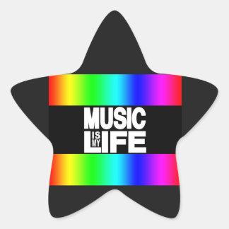 Music is My Life Rainbow Star Sticker
