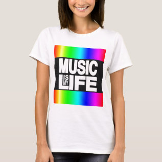 Music Is My Life Rainbow T-shirt at Zazzle