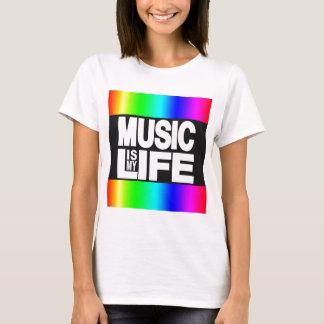 Music Is My Life Rainbow T-Shirt