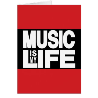 Music Is My Life Red Card